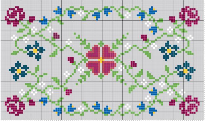 Jewel Back Piece - Option 1 - Stitch Fiddle